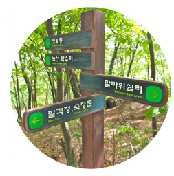 The sign in Bugaksan mountain