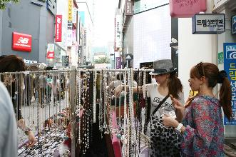 street stall selling accessories