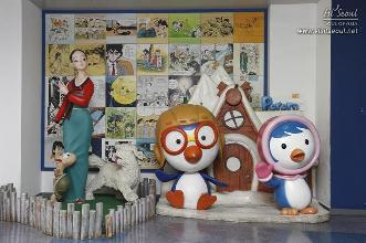 Pororo characters on display in the lobby