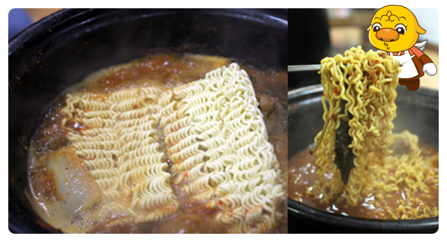 Be sure to cook up some ramyeon in the leftover broth for even more deliciousness
