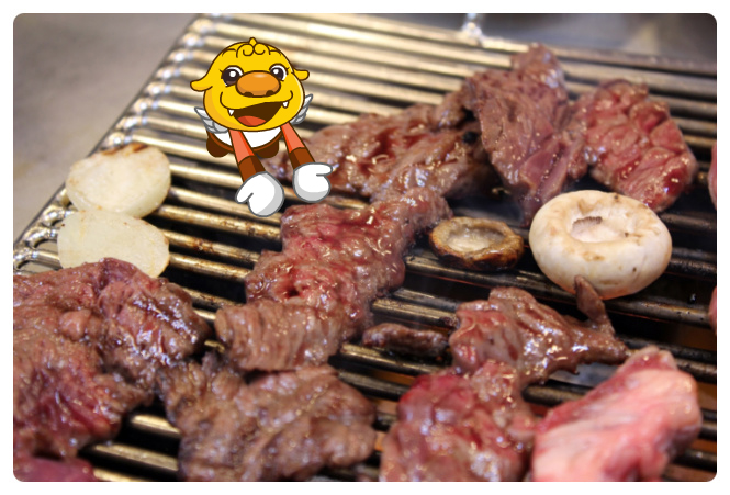 Grill the meat on the fire2