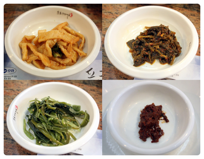 Various banchan (side dishes)