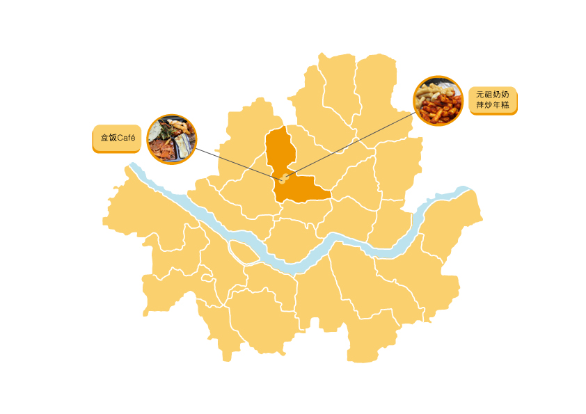 通仁市场的地图